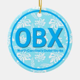 Adorno De Cerámica Navidad personalizado del azul de OBX Outer Banks