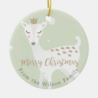 Adorno De Cerámica Navidad personalizado el   lindo de la verde