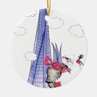 Adorno De Cerámica Navidad Santa de ShardArt de Tony Fernandes