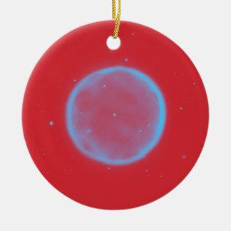 Adorno De Cerámica Nebulla abstracto con el círculo cósmico galáctico