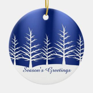 Adorno De Cerámica Nieve blanca de los árboles del navidad