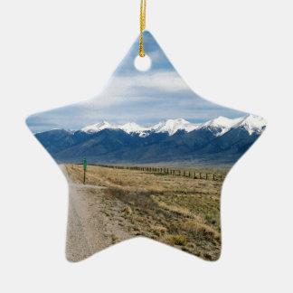 Adorno De Cerámica Nieve Mountais de Colorado