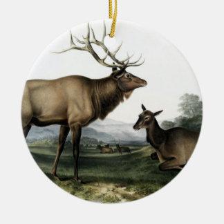 Adorno De Cerámica No. 3 de los ciervos del vintage