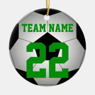 Adorno De Cerámica Nombre del equipo del balón de fútbol