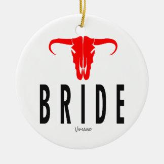 Adorno De Cerámica Novia y Bull por diseño de VIMAGO