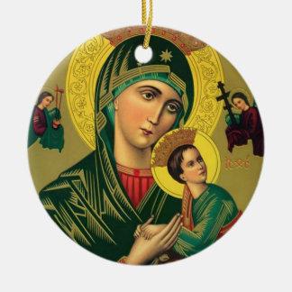Adorno De Cerámica Nuestra madre de la ayuda perpetua Jesús