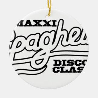 ADORNO DE CERÁMICA OBRAS CLÁSICAS DEL DISCO DE LOS ESPAGUETIS DE DJ