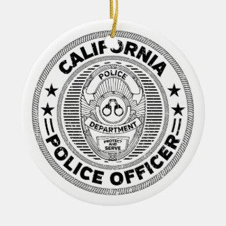 Adorno De Cerámica Oficial de policía de California