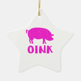 Adorno De Cerámica Oink cerdo