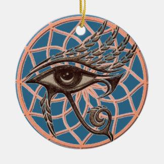 Adorno De Cerámica Ojo ideal del colector del azul de Horus