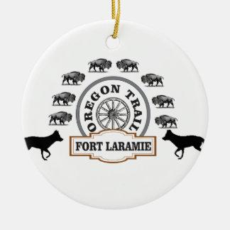 Adorno De Cerámica oro de Laramie del fuerte