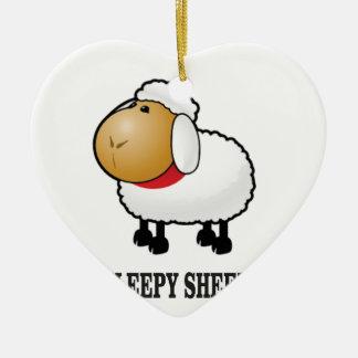 Adorno De Cerámica ovejas soñolientas