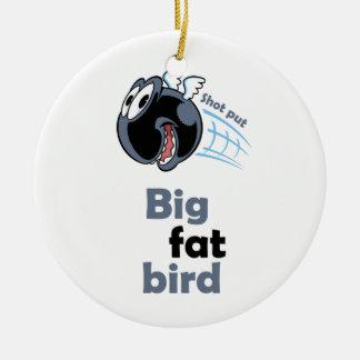 Adorno De Cerámica Pájaro lanzamiento de peso gordo grande