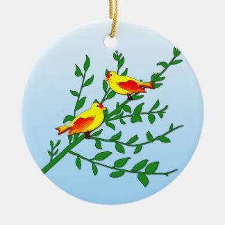 Adorno De Cerámica Pájaros de la paz