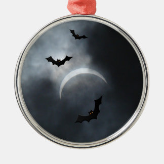 Adorno De Cerámica Palos fantasmagóricos de Halloween en eclipse