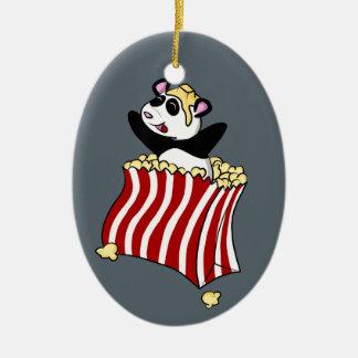 Adorno De Cerámica ¡Panda de las palomitas!