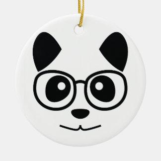 Adorno De Cerámica Panda y vidrios