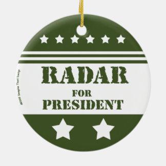 Adorno De Cerámica Para presidente Radar
