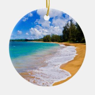Adorno De Cerámica Paraíso tropical de la playa, Hawaii