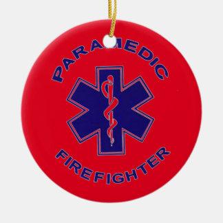 Adorno De Cerámica Paramédico del bombero