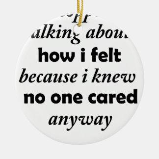 Adorno De Cerámica paré el hablar de cómo sentía porque sabía