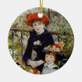 Adorno De Cerámica Pedro un Renoir el   dos hermanas, o en la terraza