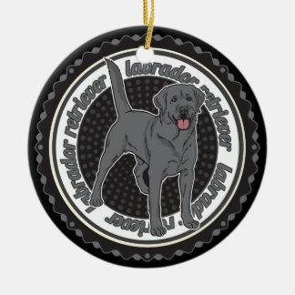Adorno De Cerámica Perro del labrador retriever del amante del perro