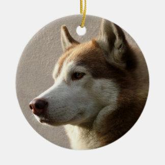 Adorno De Cerámica Perro del Malamute de Alaska
