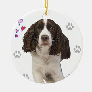 Adorno De Cerámica Perro del perro de aguas de saltador inglés
