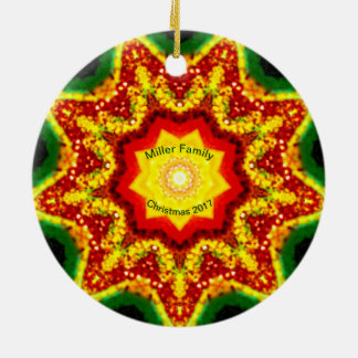 Adorno De Cerámica ~ personalizado ~ del fractal del navidad de la
