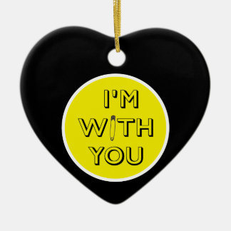 Adorno De Cerámica Pin de seguridad - Estoy con usted