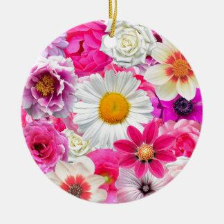 Adorno De Cerámica Pink flowers_ Gloria Sanchez
