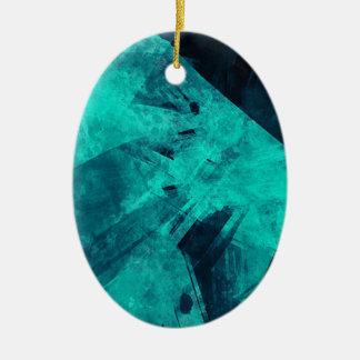 Adorno De Cerámica Pintura Azul-Negra