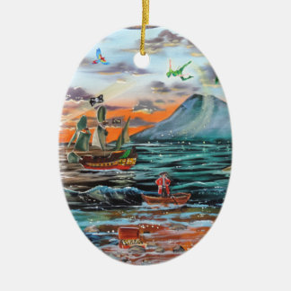 Adorno De Cerámica Pintura de Bell del chapucero de la ensenada del
