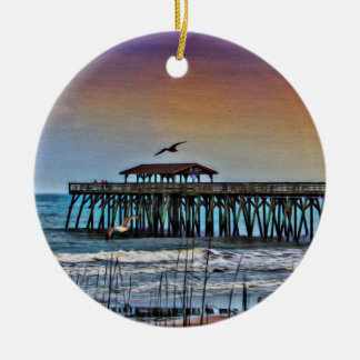Adorno De Cerámica Pintura del embarcadero en Myrtle Beach -