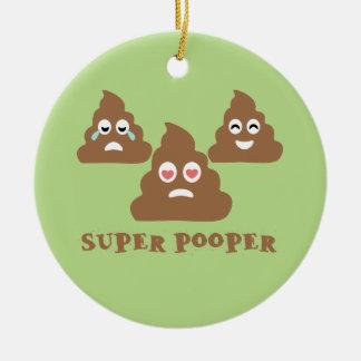 Adorno De Cerámica Pooper estupendo Emoji
