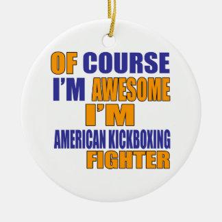 Adorno De Cerámica Por supuesto soy combatiente de Kickboxing del