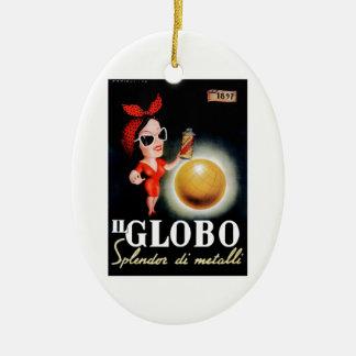 Adorno De Cerámica Poster italiano 1949 de la publicidad de IL Globo