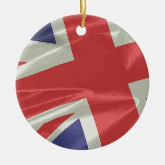 Adorno De Cerámica Primer de seda de la bandera de Union Jack