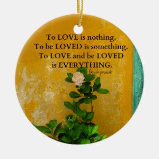 Adorno De Cerámica proverbio del Griego de la cita del amor del