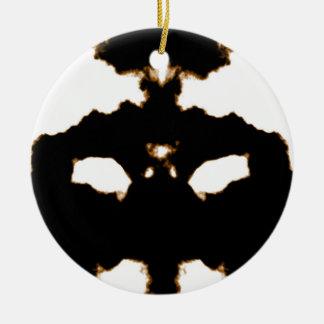 Adorno De Cerámica Prueba de Rorschach de una tarjeta de la mancha