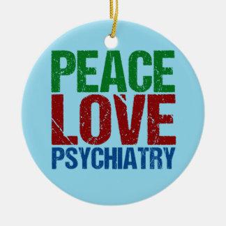 Adorno De Cerámica Psiquiatría del amor de la paz