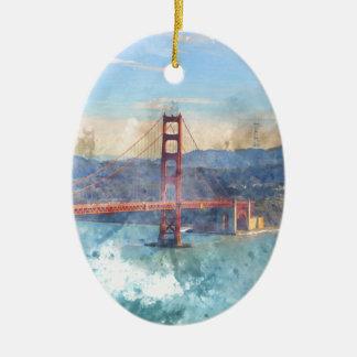 Adorno De Cerámica Puente Golden Gate de San Francisco en California