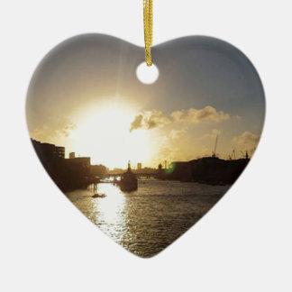 Adorno De Cerámica Puesta del sol de Londres