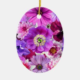 Adorno De Cerámica Purple flowers