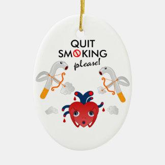 Adorno De Cerámica Quit que fuma por favor