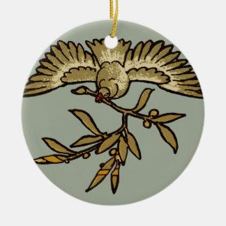 Adorno De Cerámica Rama de olivo de la paloma de la paz