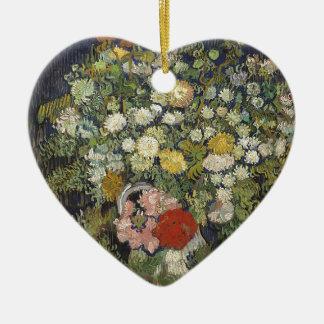 Adorno De Cerámica Ramo de flores en un florero