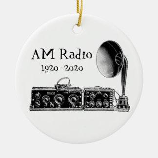 Adorno De Cerámica Receptor de radio del vintage del personalizar