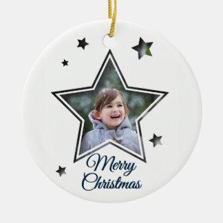 Adorno De Cerámica Recorte de la estrella - Felices Navidad -